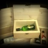 cutie mini sticla de vin