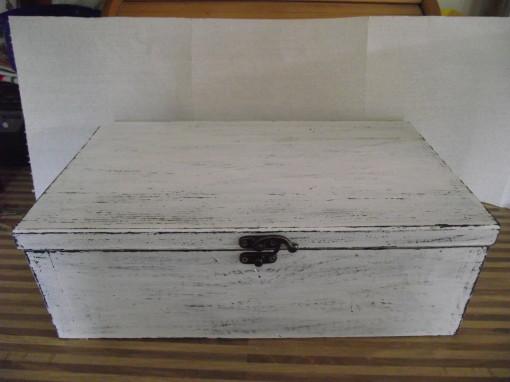 Cutie lemn antichizata